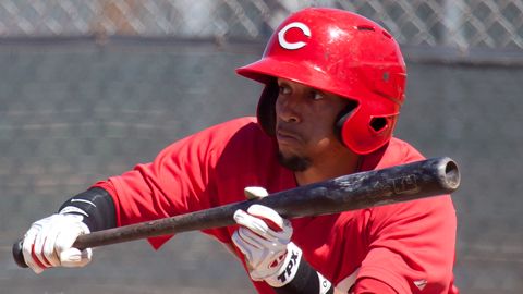 Billy Hamilton got bunting tips from Hall of Famer Joe Morgan last spring.
